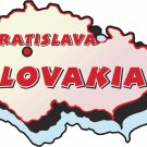 Slovakia Country Map Wall Decal