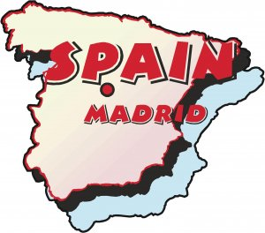 Spain Country Map Wall Decal