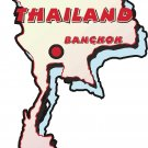Thailand Country Map Wall Decal