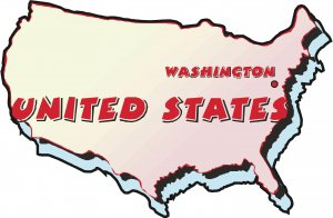 United States Country Map Wall Decal