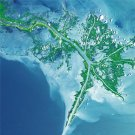 Mississippi River Delta As Art on Canvas