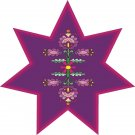 Star Flower Pattern Wall Decal