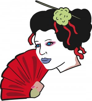 Red Geisha Wall Decal