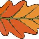 Orange Leaf Wall Decal