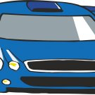 Blue Race Car Wall Decal