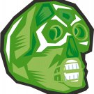 Gem Skull Green Wall Decal