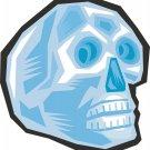 Gem Skull Blue Wall Decal
