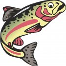Trout Salmon Pink Wall Decal