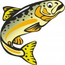 Trout Yellow Wall Decal