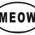 Meow Oval Car Sticker