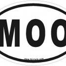 Moo Oval Car Sticker