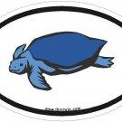 Turtle Oval Car Sticker