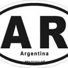 Argentina Oval Car Sticker