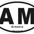 Armenia Oval Car Sticker
