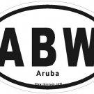 Aruba Oval Car Sticker