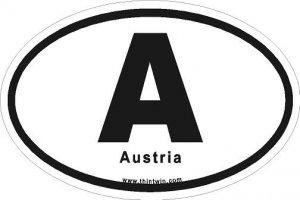 Austria Oval Car Sticker