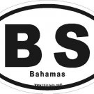 Bahamas Oval Car Sticker