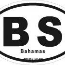 Bahamas Oval Car Sticker
