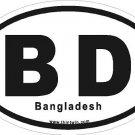 Bangladesh Oval Car Sticker