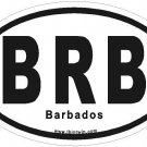 Barbados Oval Car Sticker