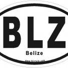 Belize Oval Car Sticker