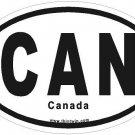 Canada Oval Car Sticker