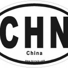 China Oval Car Sticker