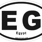 Egypt Oval Car Sticker