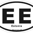 Estonia Oval Car Sticker