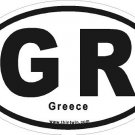 Greece Oval Car Sticker