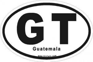Guatemala Oval Car Sticker