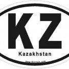 Kazakhstan Oval Car Sticker