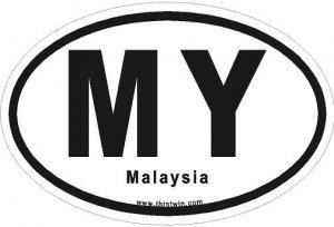 Malaysia Oval Car Sticker