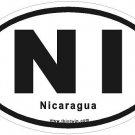 Nicaragua Oval Car Sticker
