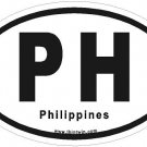 Philippines Oval Car Sticker