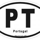 Portugal Oval Car Sticker