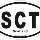 Scotland Oval Car Sticker