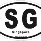 Singapore Oval Car Sticker
