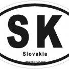 Slovakia Oval Car Sticker