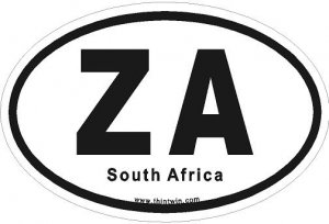 South Africa Oval Car Sticker