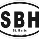 St. Barts Oval Car Sticker