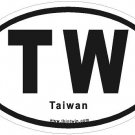 Taiwan Oval Car Sticker