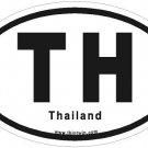 Thailand Oval Car Sticker