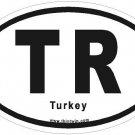 Turkey Oval Car Sticker