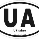 Ukraine Oval Car Sticker