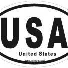 United States Oval Car Sticker