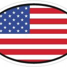 United States Flag Oval Car Sticker