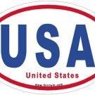 United States RWB Oval Car Sticker