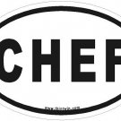 Chef Oval Car Sticker