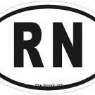 RN Oval Car Sticker